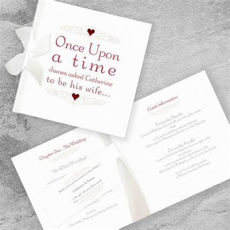 Once Upon A Time Wedding Invitation   Paper Themes Wedding