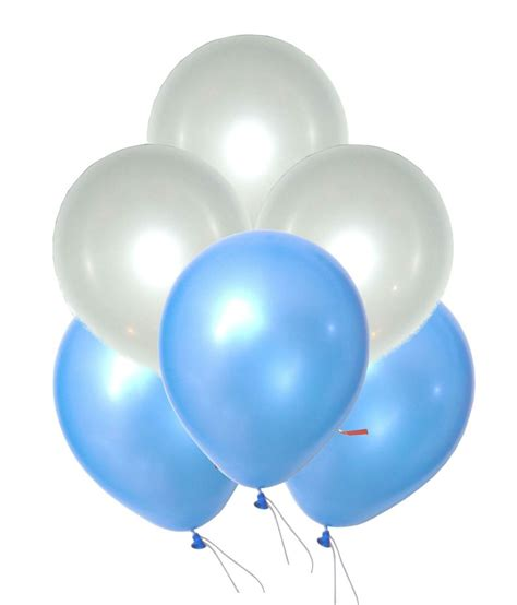 Balon Metalic 1 Pack grandshop 50312 balloons metallic hd light blue white