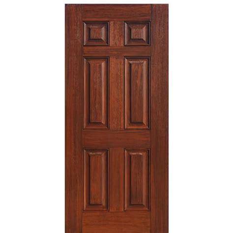 Six Panel Exterior Wood Doors Glasscraft 6 Panel 6 Panel Fiberglass Entry Door With Cherry Wood Grain At Doors4home