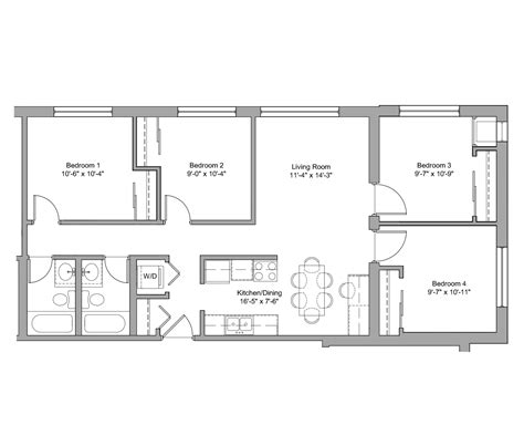 floor plan description d1 g the denn apartments
