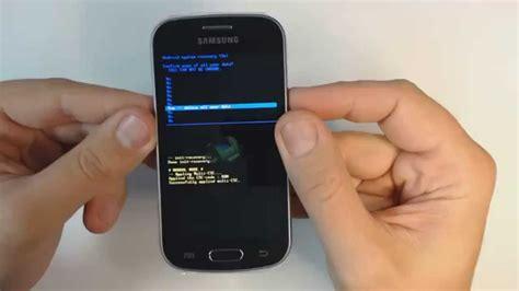 reset samsung lite samsung galaxy trend lite s7390 hard reset youtube
