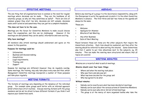 effective meeting minutes template best photos of effective meeting templates monthly