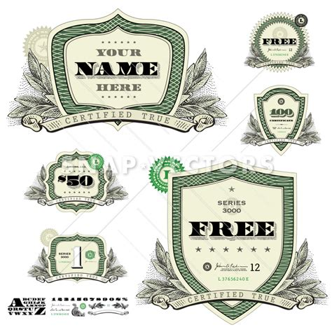 home design free money vector money logo set with leaf woodcut decoration snap