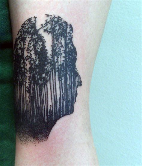 small pine tree tattoo 70 pine tree ideas for wood in the wilderness