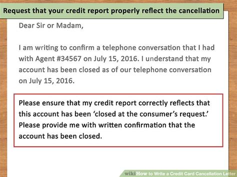 cancel account request letter how to write a credit card cancellation letter with pictures