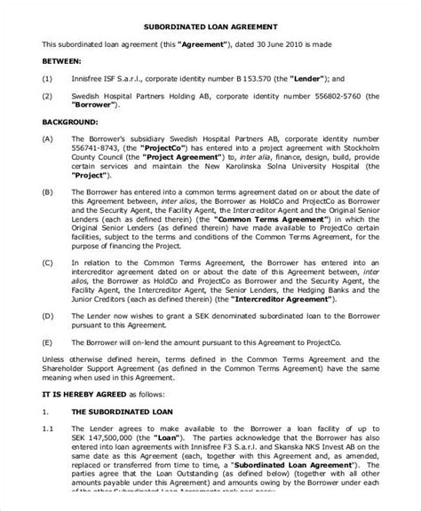 shareholder loan agreement template 35 loan agreement forms in pdf