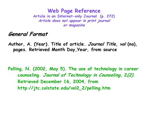 apa style format in website website reference apa format homework academic writing