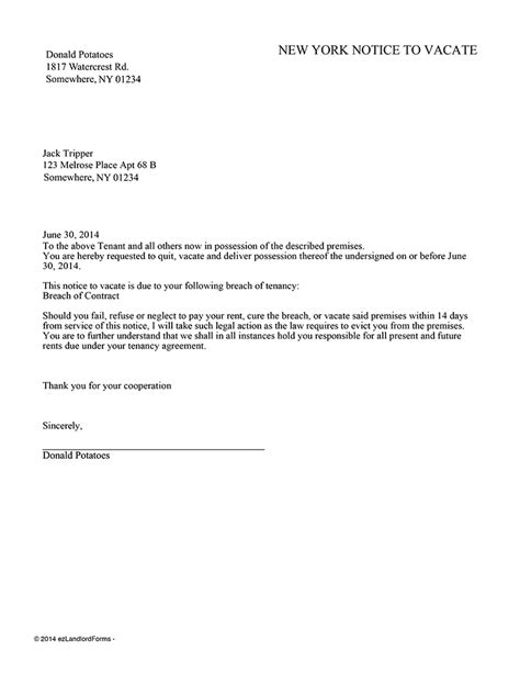 Agreement To Vacate Letter 20 best of agreement to vacate letter images complete