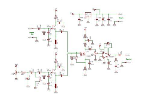 bfo metal detector circuit diagram bfo metal detector no3 schematic