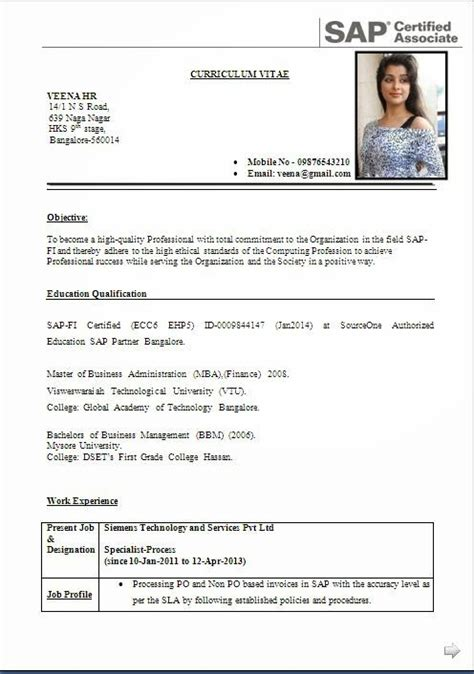 Cv And Resume Format by Curriculum Vitae Curriculum Vitae Blogspotcom Newhairstylesformen2014