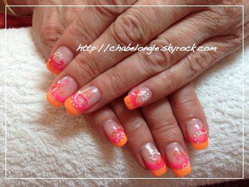 Ongles En Gel Orange Fluo by S 233 Rie Fluo La Pose D Ongle En Gel