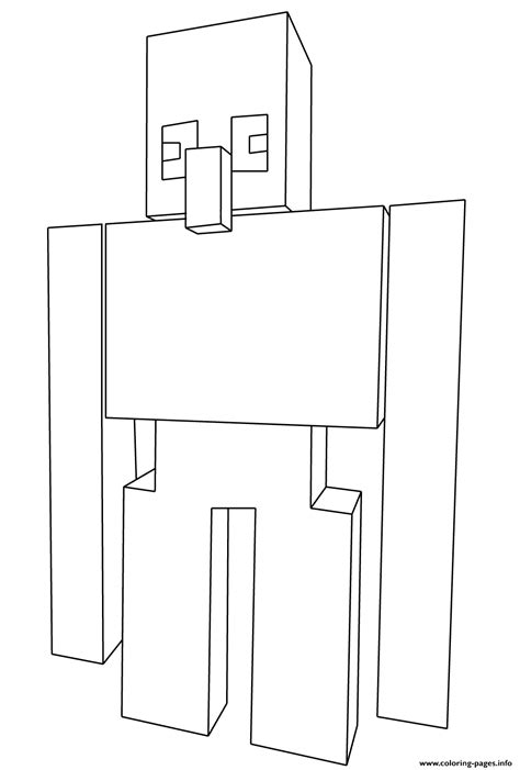 minecraft coloring pages iron golem minecraft iron golem coloring pages printable