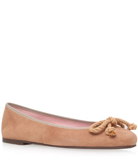 Top Five Pretty Flat Shoes At A Discount In The Schuh Summer Sale by Lyst Pretty Ballerinas Beige Ami Suede Ballerina Flats