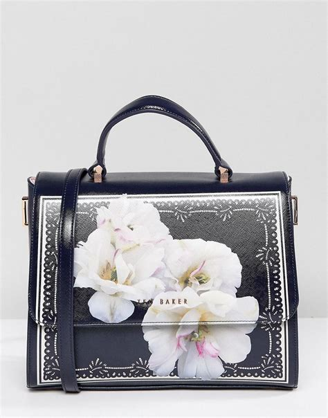 Dressc Print Tote by Lyst Ted Baker Large Leather Box Tote Bag In Gardenia