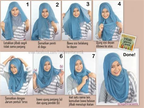 tutorial hijab turban praktis 10 gaya hijab segi empat yang beda buat pipi chubby