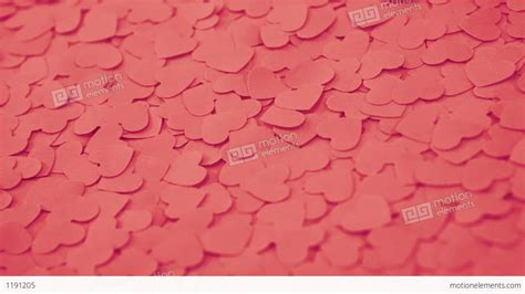 Handmade Paper Hearts - background with handmade paper hearts stock
