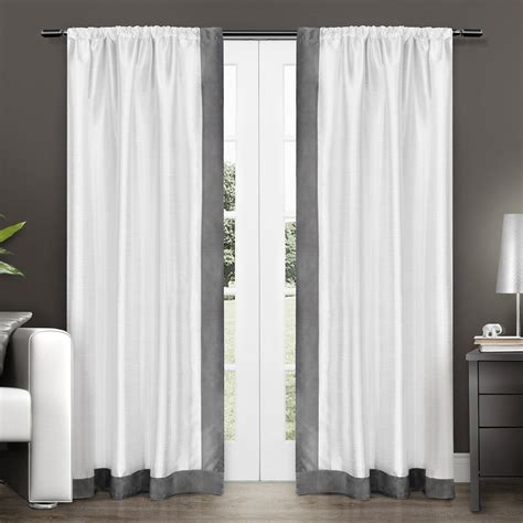 amazon window drapes amazon com exclusive home grammercy bordered faux silk