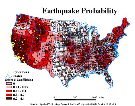 seismic map usa 13 march 2011 crisisboom