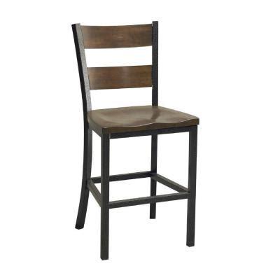 cabin creek chestnut vintage wood and metal bar stool 5411
