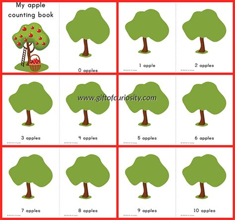 my apple counting book free printable counting book book covers