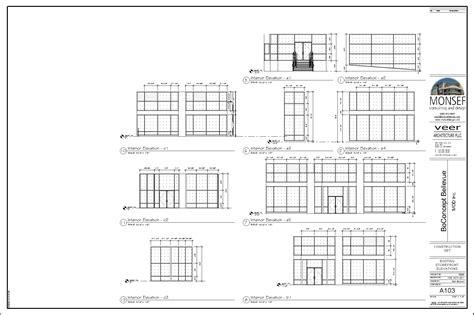 Monsef Donogh Design GroupBoConcept Bellevue Sheet A103 EXISTING STOREFRONT ELEVATIONS