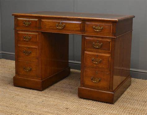 antique oak desk quality oak antique pedestal desk 251942 sellingantiques co uk