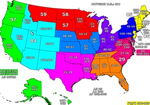 Map Of Zip Codes Detailed Zip Code Prefix Map