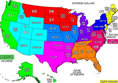 zip code maps detailed zip code prefix map