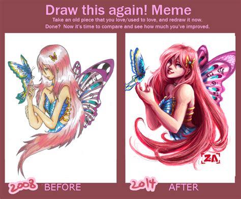 draw   meme butterfly girl  zlynn  deviantart