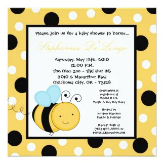 53 Bumble Bee Baby Shower Bumble Bee Invitations Announcements Zazzle Canada