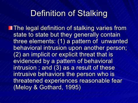 pattern behavior definition stalking
