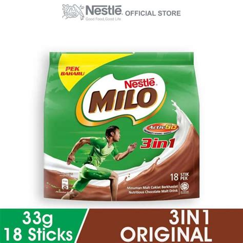 Milo Activ 3in1 nestle milo 3in1 activ go 18 sticks 33g each lazada