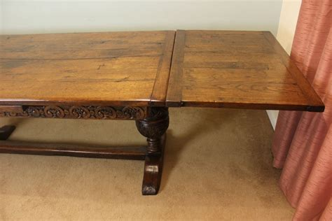 Farmhouse Dining Table With Leaf Antique Oak Refectory Draw Leaf Farmhouse Dining Table 290335 Sellingantiques Co Uk