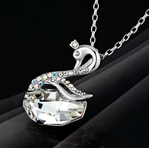 925 Sterling Silver Swan Necklace 925 sterling silver swan pendant with 925 sterling silver