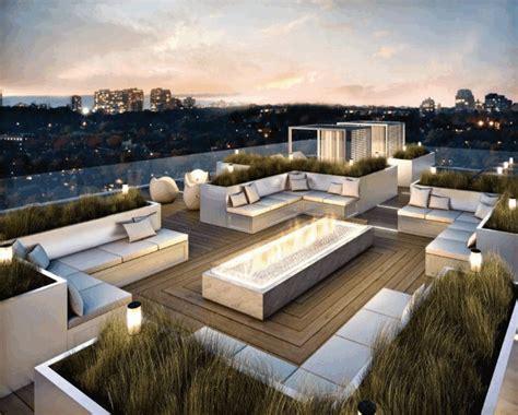 feuerschale dachterrasse gestaltungsideen f 252 r balkon dachterrasse 25 coole ideen