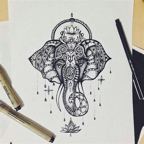 elephant tattoo we heart it aztec elephant on we heart it sketches pinterest we