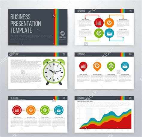 21 business powerpoint presentations psd vector eps