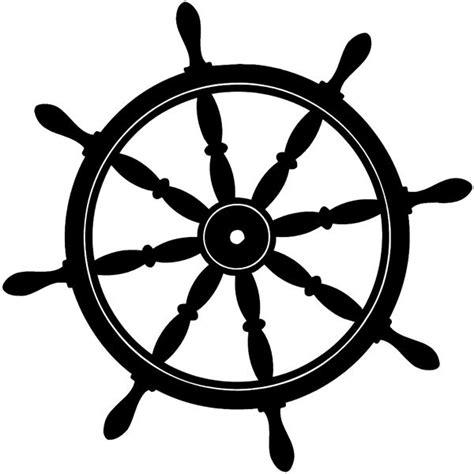 ship wheel silhouette ships wheel silhouette vinyl - Boat Steering Wheel Clipart