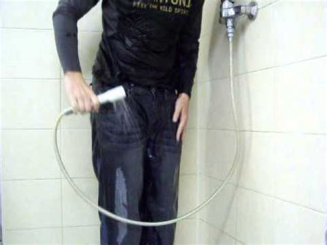 cloth shower shower in clothes