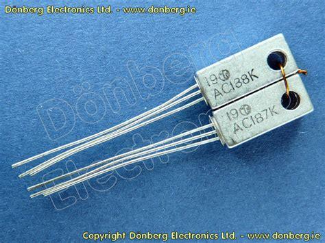 remplacer transistor germanium par silicium semiconductor ac187 188 ac 187 188 ge matched par transistores