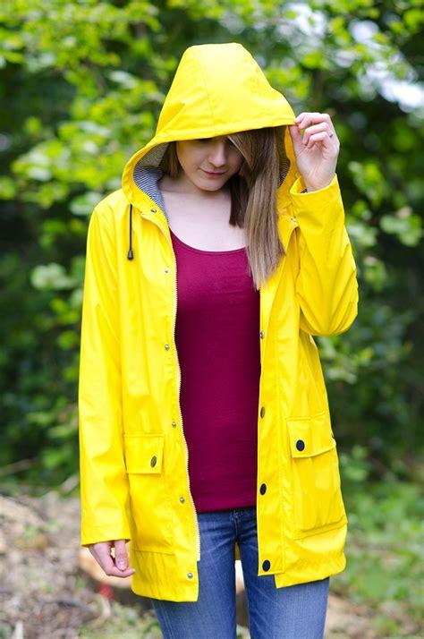 in raincoat the classic yellow coat trend raindrops of sapphire