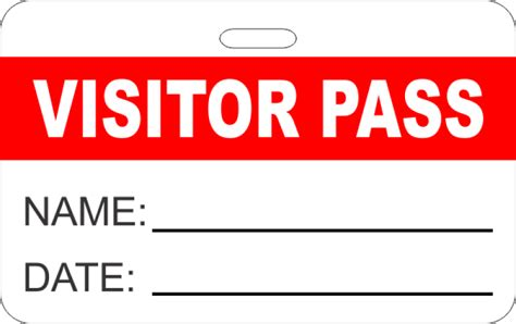 Visitor Pass Reusable Name Badge Name Tag Wizard Visitor Badge Template
