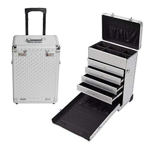 large rolling makeup case with drawers rolling makeup case with drawers