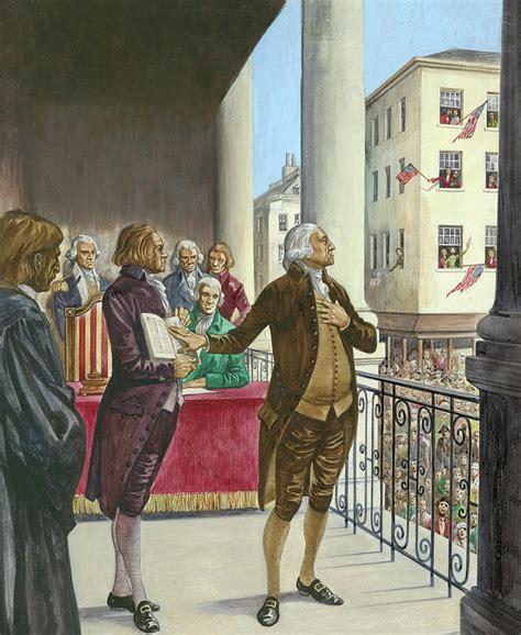 George Being George george washington being sworn in as the president of