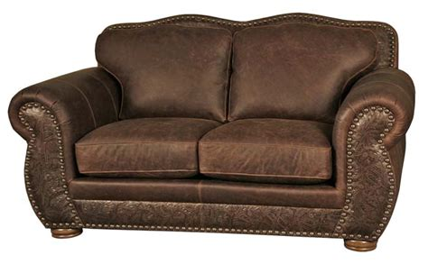 western style leather loveseat 6628 western sofas and
