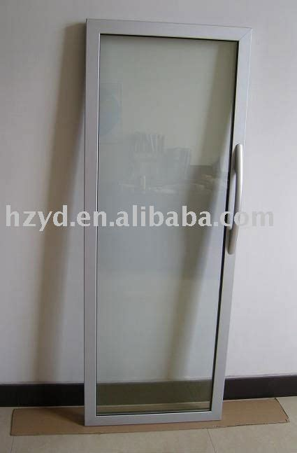 luxury aluminum frame glass door for showcase view