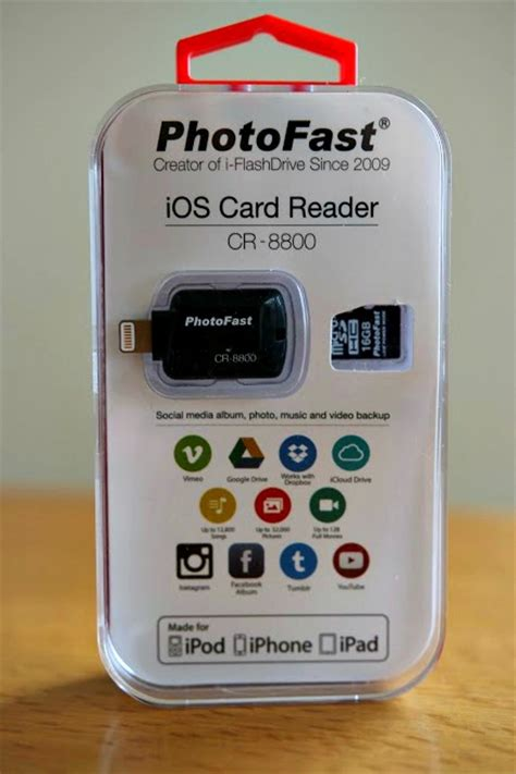 ios reader photofast ios card reader solves your iphone storage
