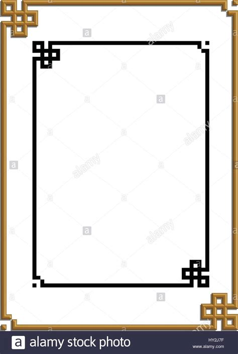 chinese pattern frame 3d vector of beautiful golden frame chinese bord pattern