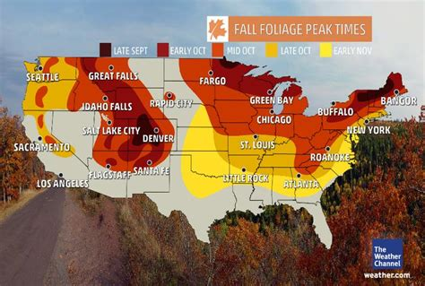 fall colors map plan your autumn cing trip around these peak fall