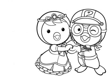little penguin coloring page рororo the little penguin coloring pages